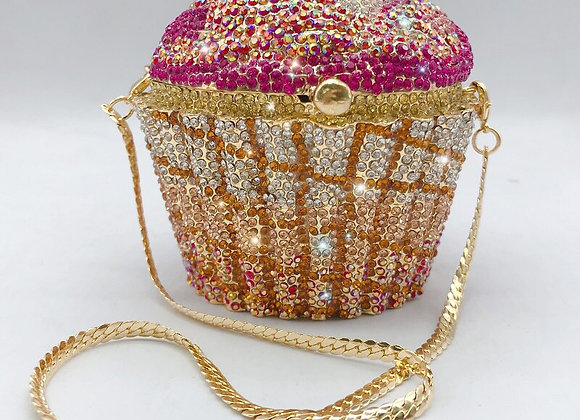 Women 2020 New Crystal Diamond Cake Chain Clutch  Purse/ Handbag