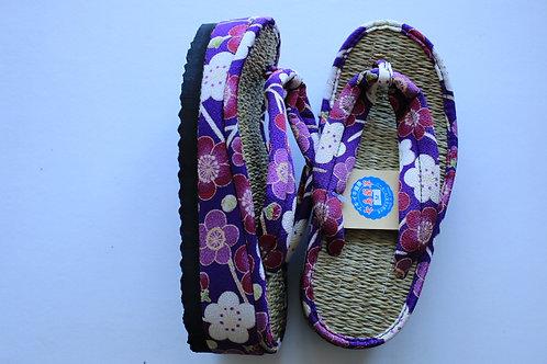 女性用 梅(紫) 縄織タイプ