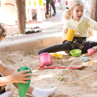 Swans Primary School. Sand pit.