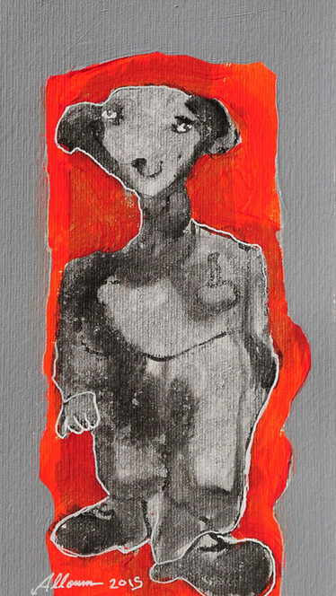 Mixed media on paper