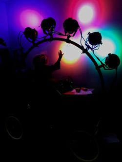 Light test in studio