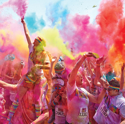We're doing the Obstacle Colour Run!