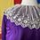 Thumbnail: 1910s royal purple satin top // sz 6/8