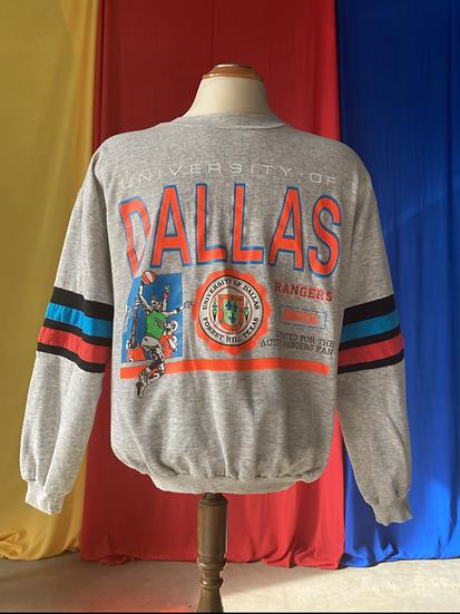 1980s University of Dallas crewneck // large