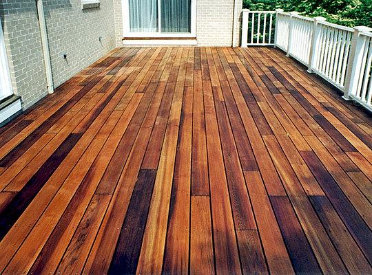 Mahogany Deck Reno Fine Cut Wood Flooring