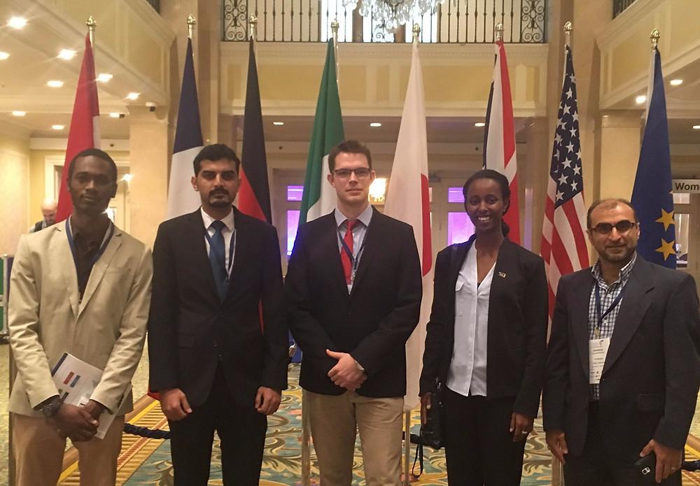Attendants from Left to Right: Tayo Shonibare, Moeid Elahi, Graeme Klim, Wintta Ghebreiyesus, Seyed Hashemi, Jesse Brito (Not Pictured)