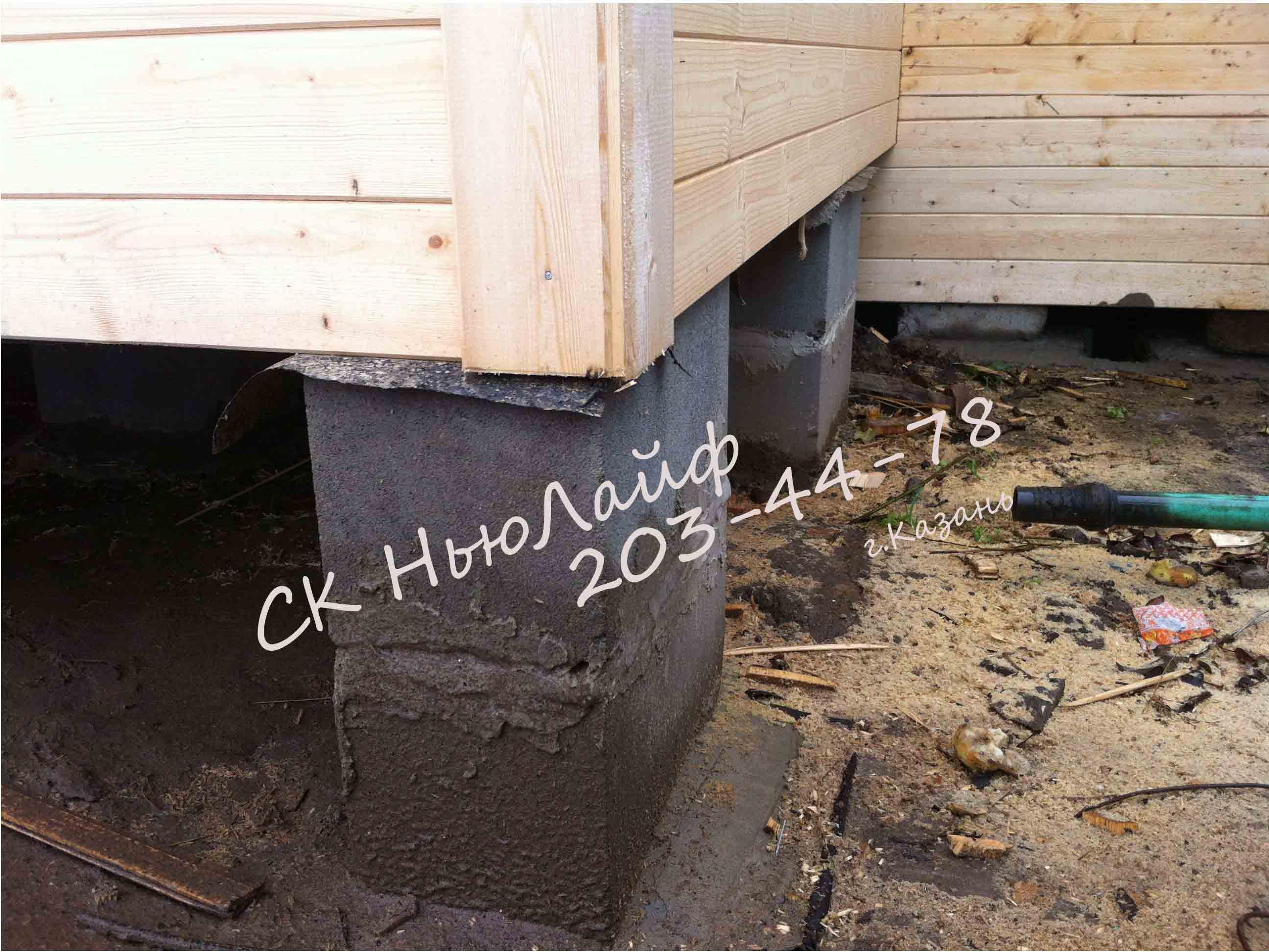 Столбчатый фундамент под дачный дом
