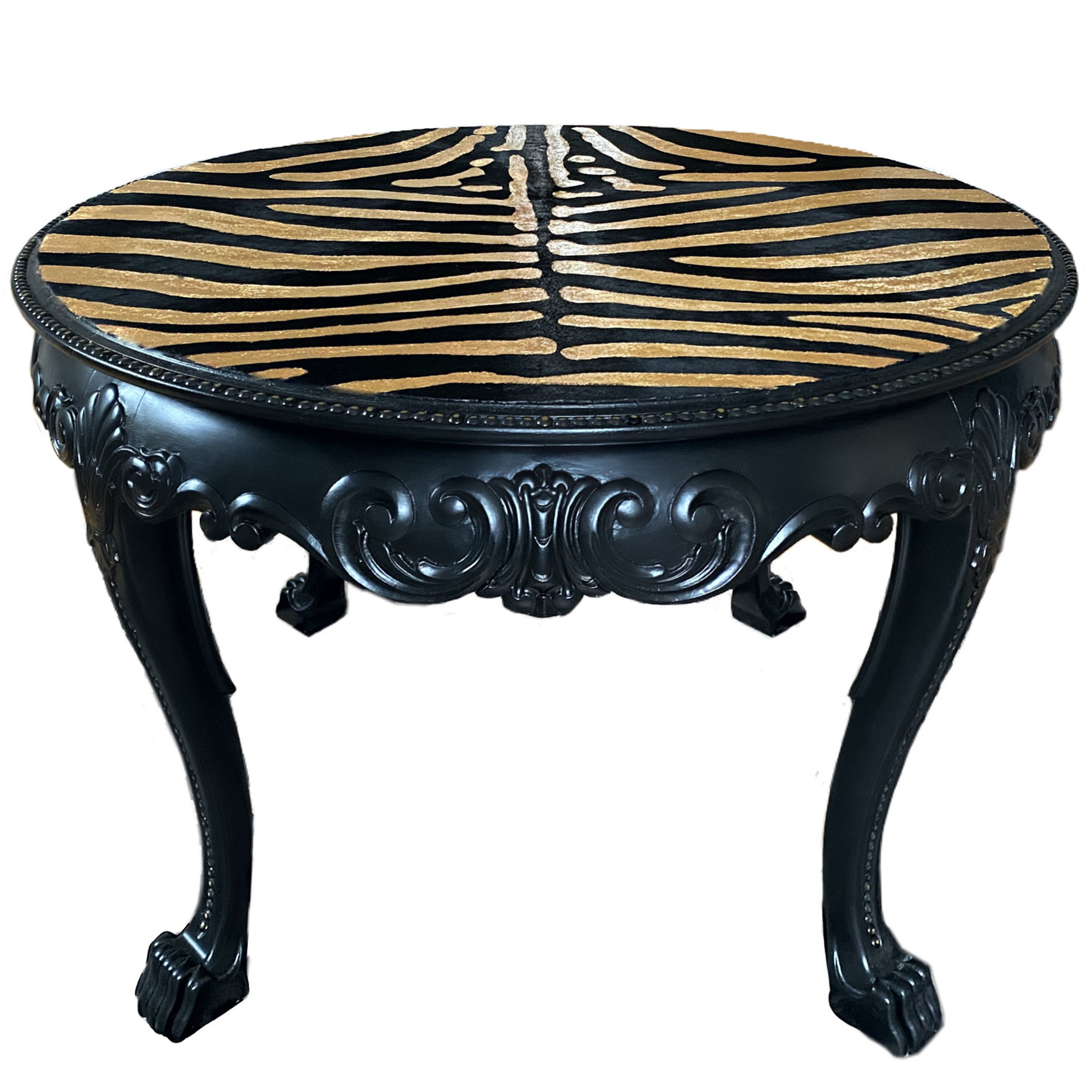 GOLDEN ZEBRA TABLE - SOLD