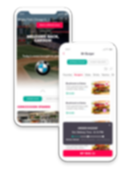 FanFood mobile ordering app welcome screen