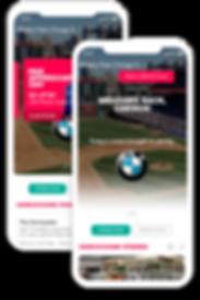 FanFood mobile ordering app in-app sponsorsip display