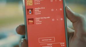 FanFood app order screen