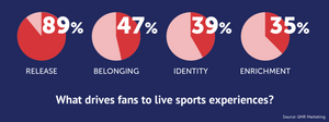 Top 4 reasons why fans go to live sport events.