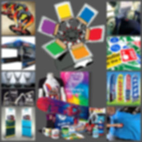 A collage or promotional products