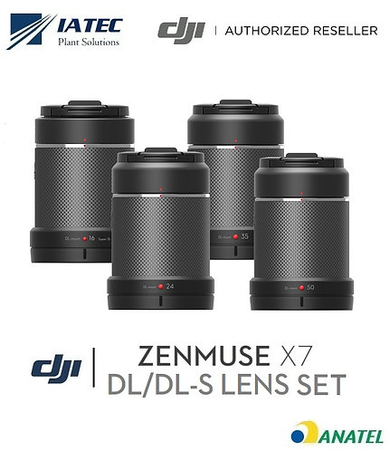 Jogo Lentes Câmera Zenmuse X7 (16mm, 24mm, 35mm e 50mm)