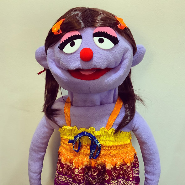 Pubbet 16: Tricia Puppet with Rainbow Dress