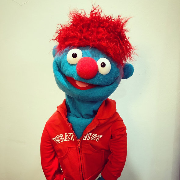 Pubbet 12: Freddie Hand Puppet with Red Hoodie