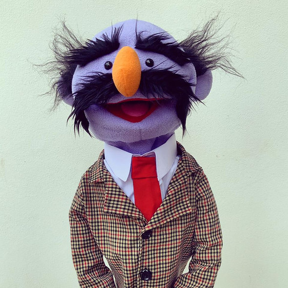 Pubbet 31: Grandpa Hand Puppet with Suit and Tie Outfit