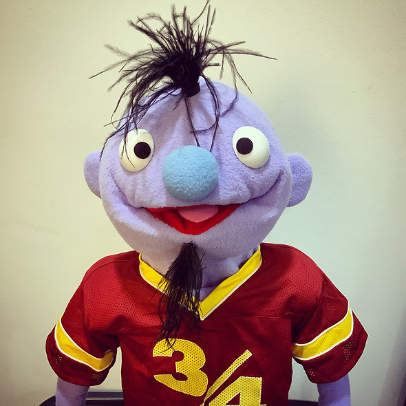 Dave Puppet with Football shirt & Shoulder Pads!