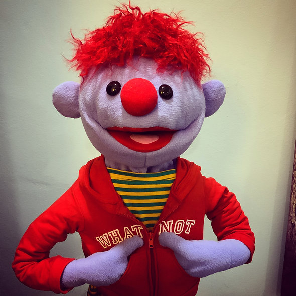 Pubbet 18: Aldo Puppet with Red Hoodie and Striped T-Shirt