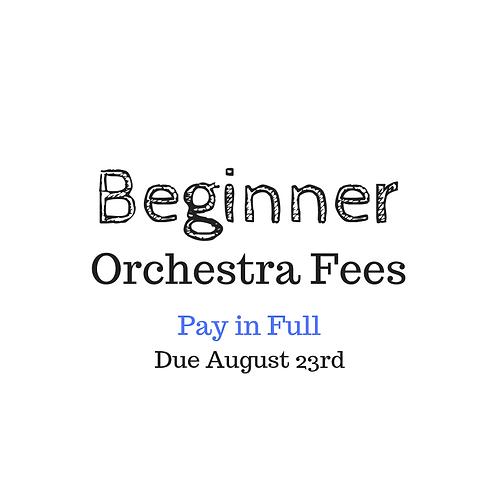Beginner Orchestra Activity Fee 2019-2020
