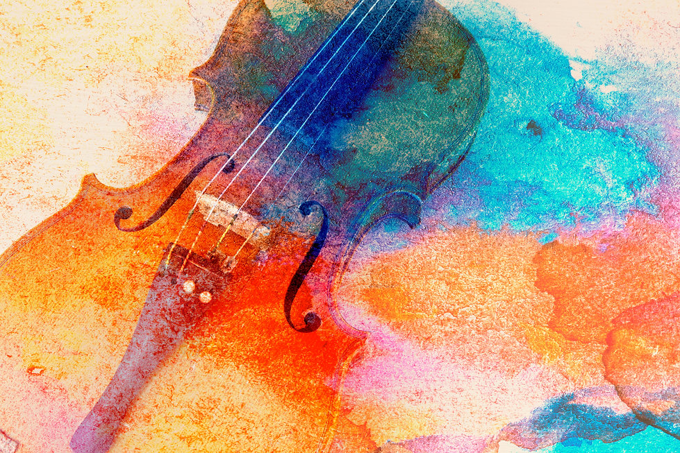Abstract violin background - violin lyin