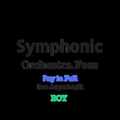 Symphonic Orchestra Activity Fees BOY 2019-2020 School Year