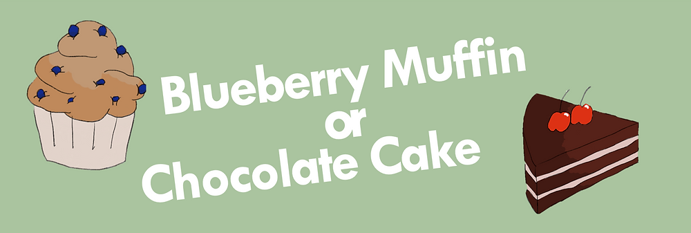 Blueberry muffin vector and chocolate cake vector
