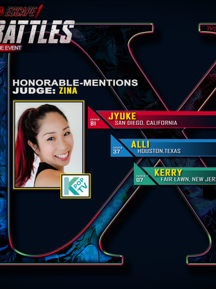 JUDGE'S HONORABLE MENTION PICKS