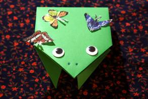 """Оригами для детей на видеоуроке в Монтессори-студии """"Апрель"""""""