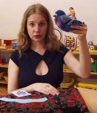 """Голубая сказка на видеоуроке для детей в Монтессори-студии """"Апрель"""""""