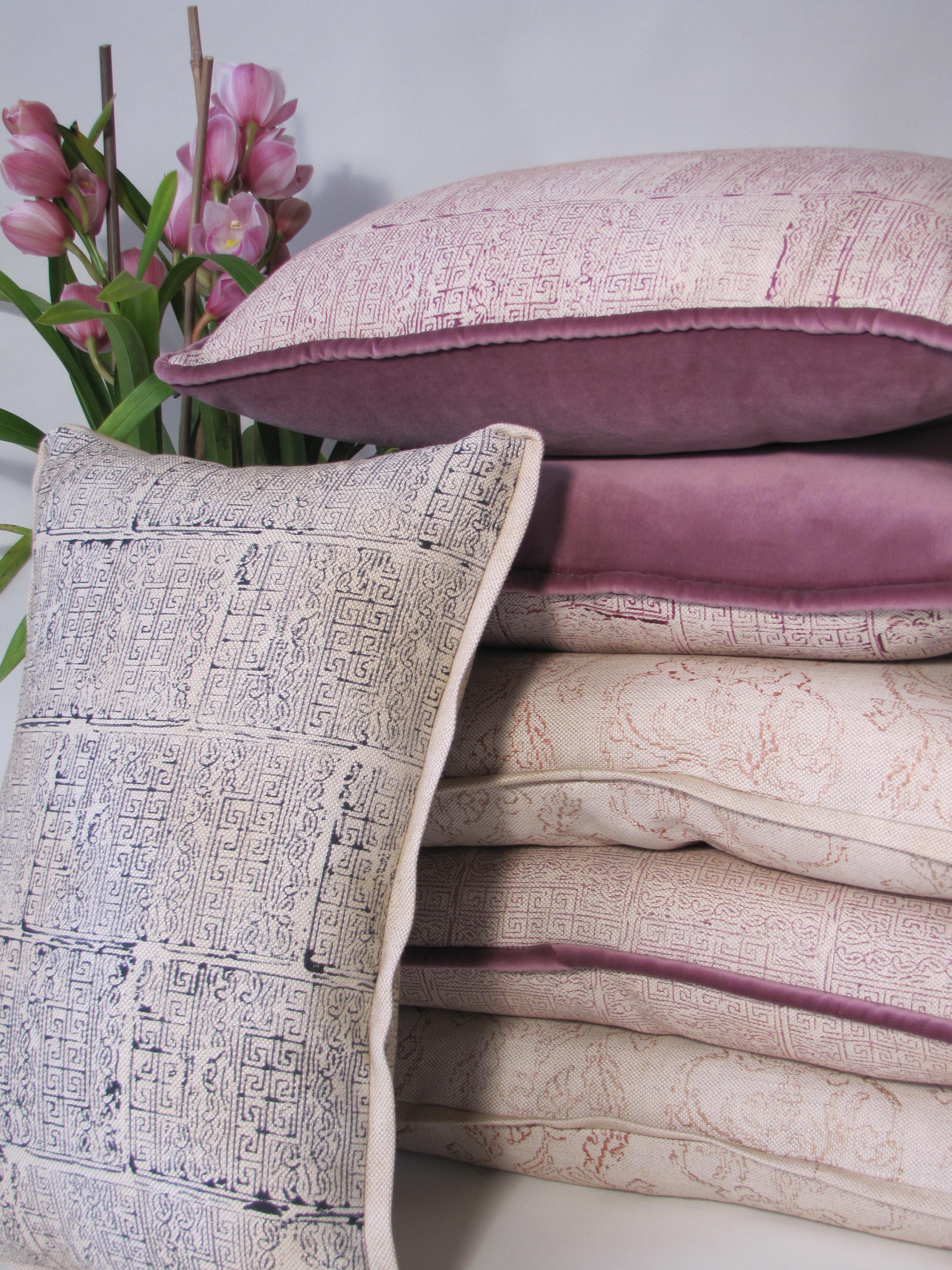 Paisley Key & Pheasant Lace Pillows