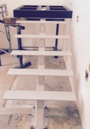 white mono stair & landing