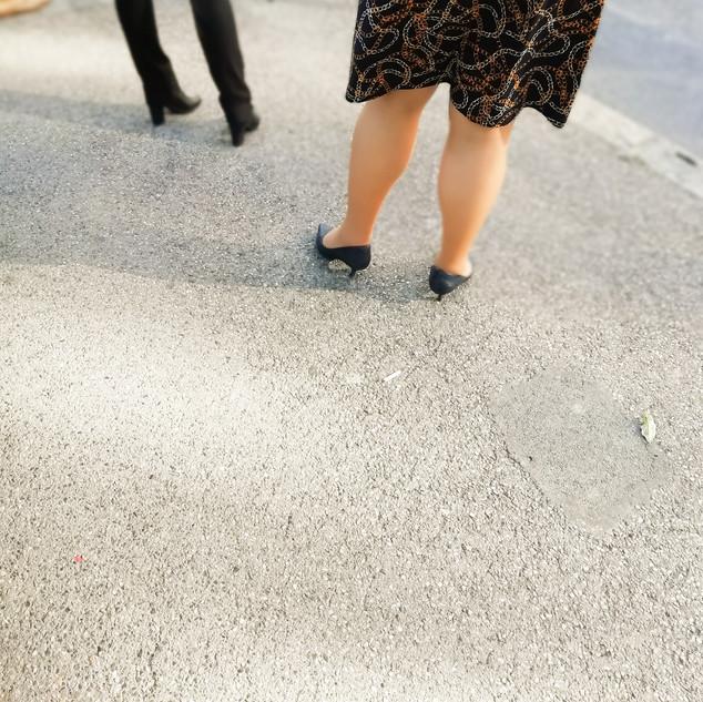 Pink steps in Geneva
