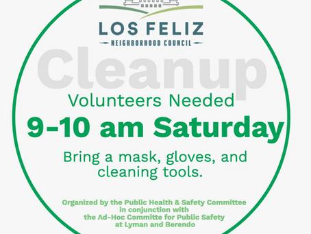 Volunteers Needed: Neighborhood Cleanup Saturday Morning