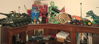 reproduction toy parts, johnny reb cannon, king zor, tiger joe tank, robot commando, great garloo