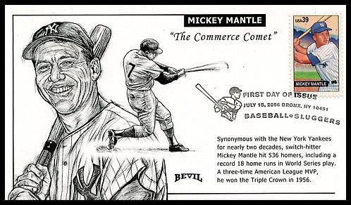MICKEY MANTLE UNPAINTED