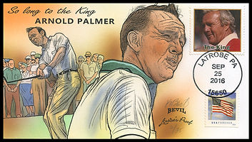 So Long Arnold Palmer, 35 artist's proofs, hand-painted by Kendal Bevil