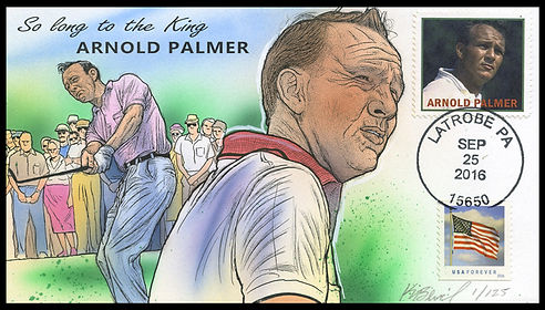 Arnold Palmer main lot of 125, hand-painted by Kendal Bevil