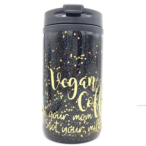Reusable Vegan Coffee Cup Black & Gold