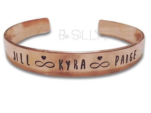 Copper Names Cuff