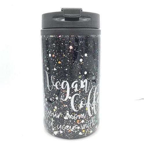 Reusable Vegan Coffee Cup Black & Grey