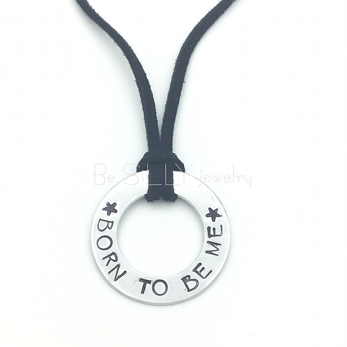 Necklace Text Ring