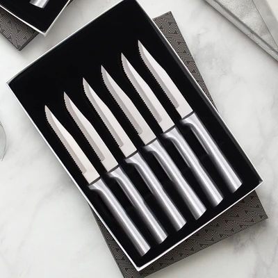 Six Serrated Steak Knives Gift Set