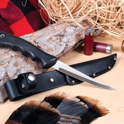 Sportsman Knife & Leather Scabbard