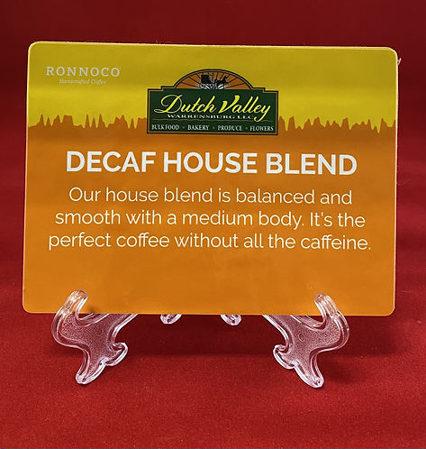 Decaf House Blend Coffee