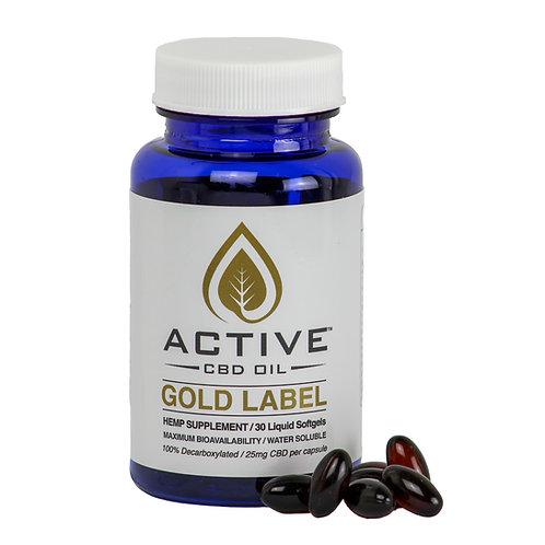 Active CBD oil Capsules 25mg/ea