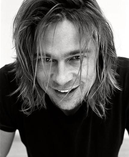 Brad Pitt in Black & White B&W ImageCelebrity Famous People Photography