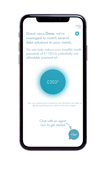 The Freeze Debt App Debt Solution Page