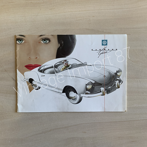 Brochure VW Karmann Ghia