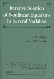 - Ortega, Rheinboldt, Iterative Solution